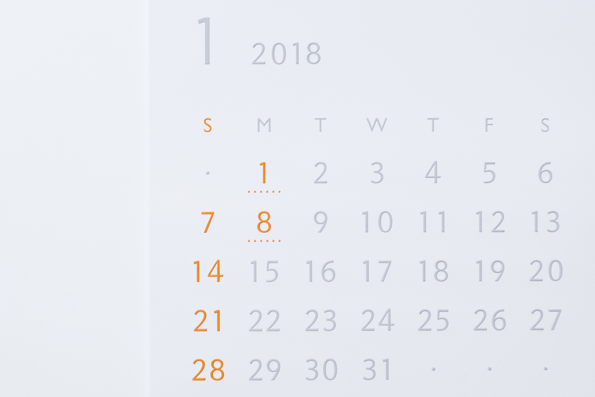 バリアフリーカレンダー カラータイプ
