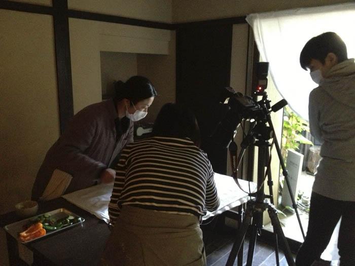 野菜の料理教室 撮影風景